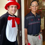Student dressed in Dr. Seuss costume.