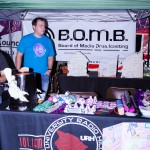 BOMB group booth.