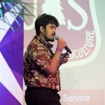 Team member giving talk.