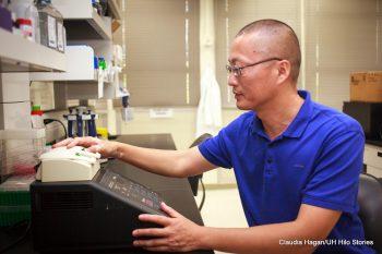 Li Tao in his lab