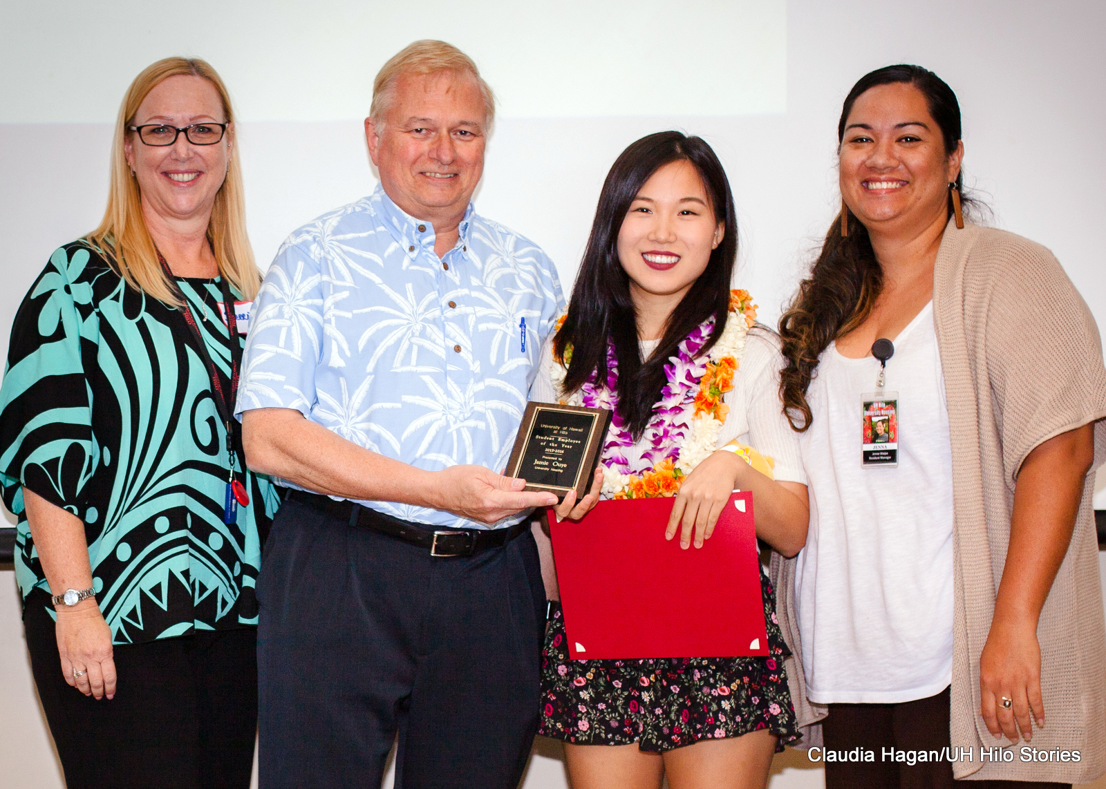 Sherry Padilla, Don Straney, Jaime Ouye, and Jenna Waipa.
