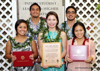 Group photo of LLC Peer Mentors Awardees