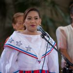 Woman in traditional attire.