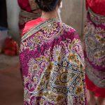 Close up of women's shawl.