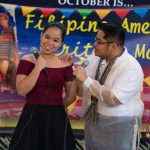 Couple at microphone