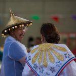 Couple in traditional attire.