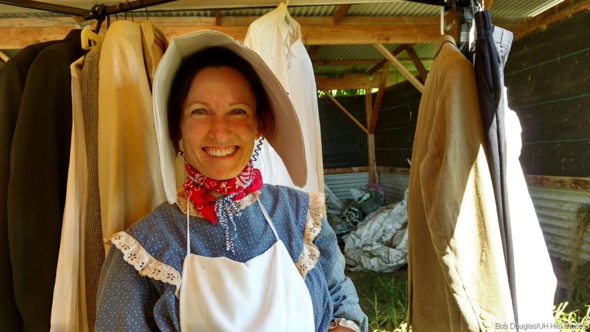 Woman in bonnet.