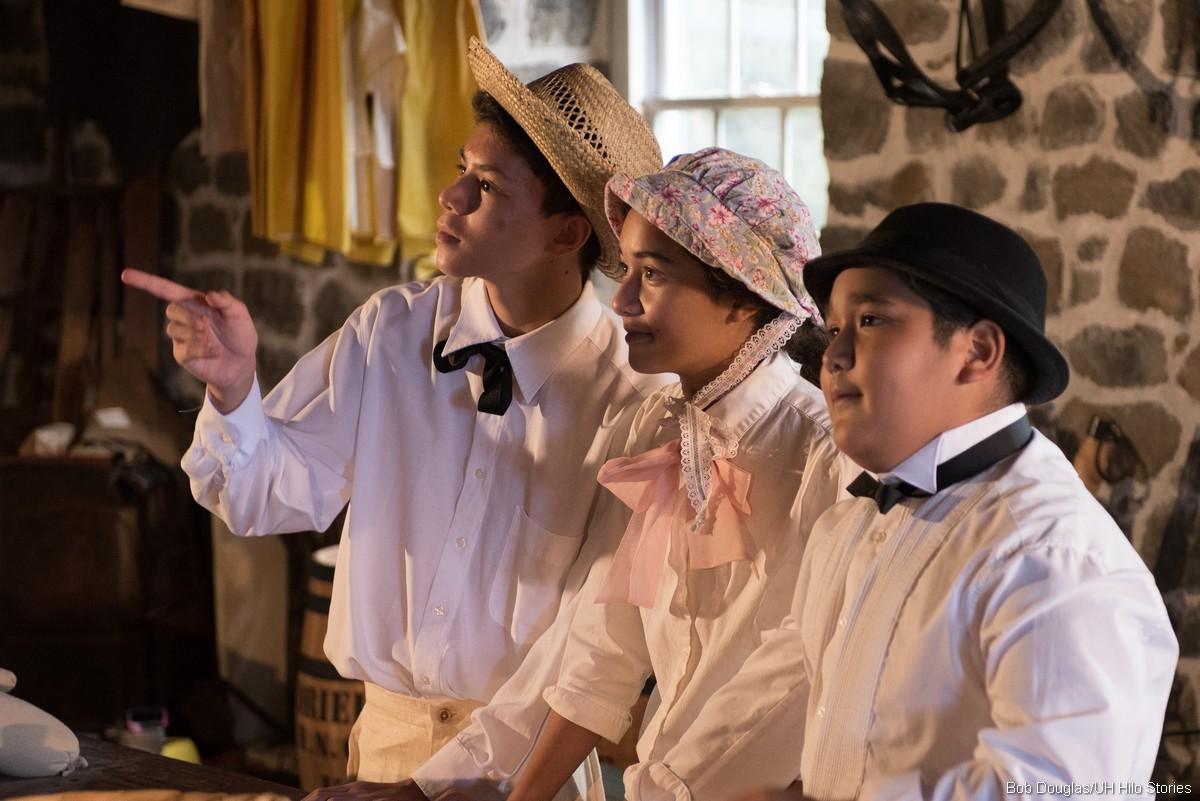 Actors performing scene.