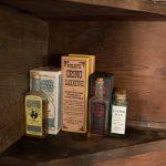 Medicinal goods on store set.