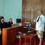 Director during court scene.