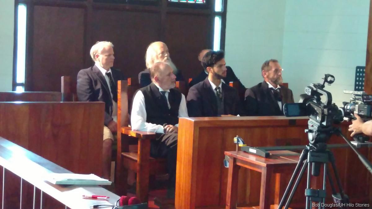 Jurors, court scene.