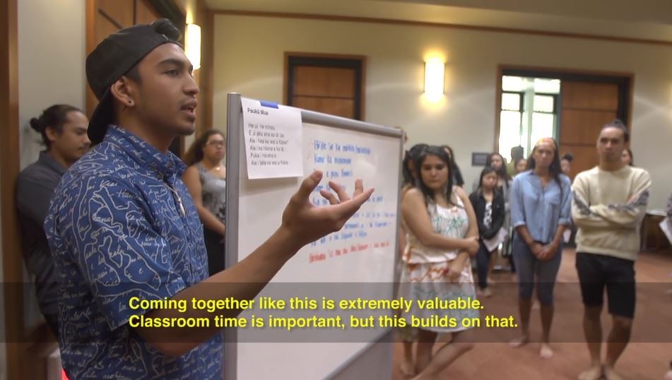Students at UH Hilo College of Hawaiian Language learn the art of debate, discuss Maunakea issues
