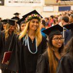 Graduates exiting.