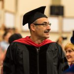 Faculty in regalia.
