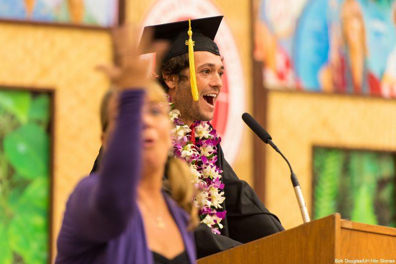 Student speaker delivering remarks.