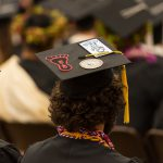 Message on someone's mortarboard.