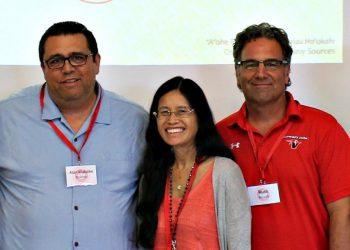 Alan Koahou, Roxanne Levinson, and Russ Blunk.