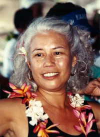 Ilima Piʻianaiʻa, with lei