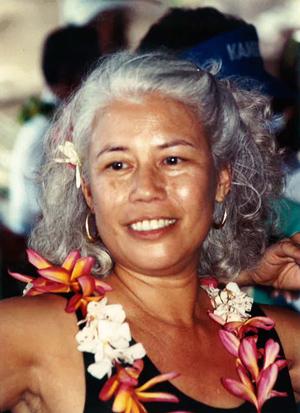 Ilima Piʻianaiʻa, with lei