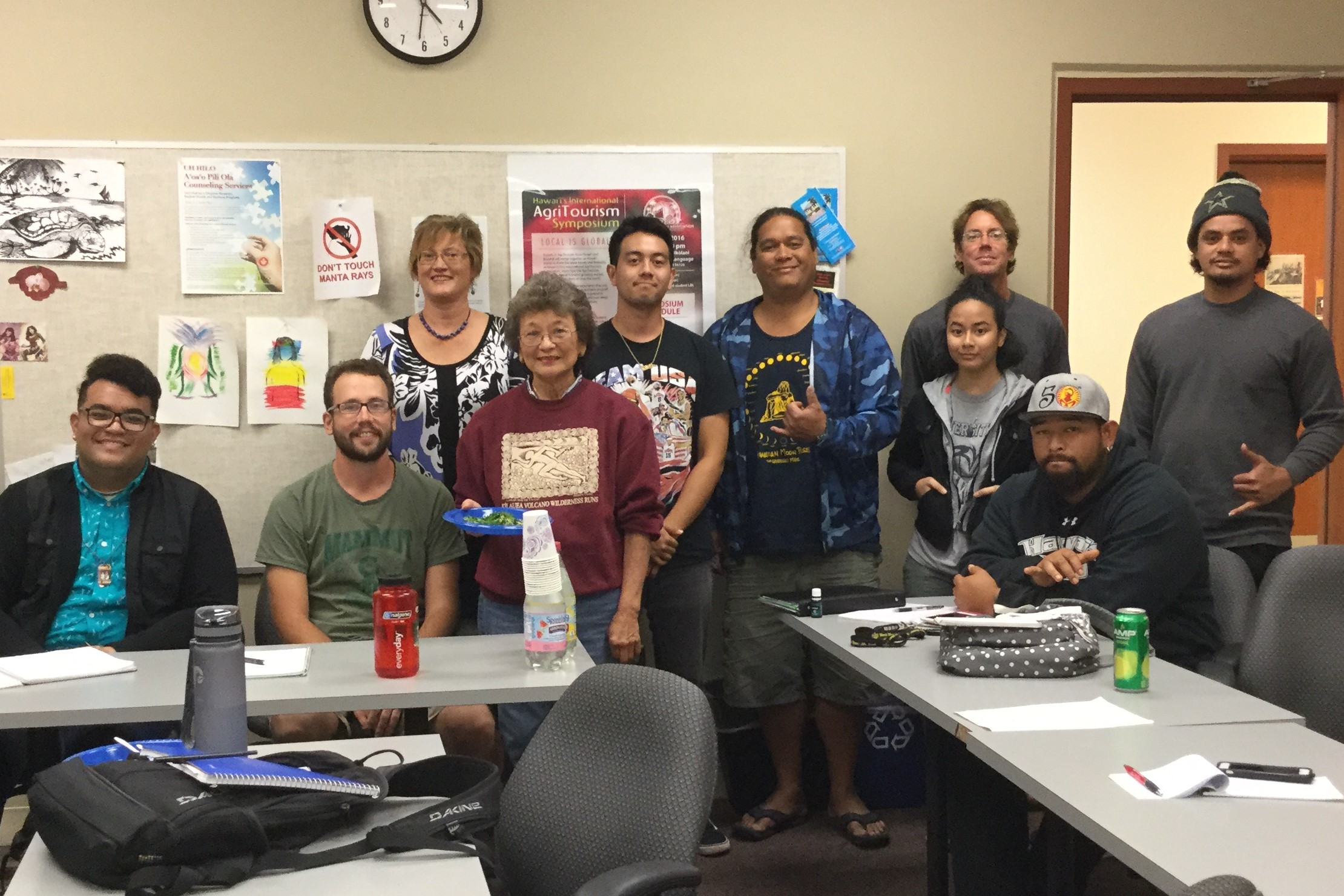 Local culinary expert Audrey Wilson shares ideas with UH Hilo agritourism class