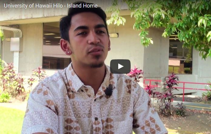 """VIDEO: Message to local students from UH Hilo admissions office: """"Enjoy the benefits of your island home"""""""