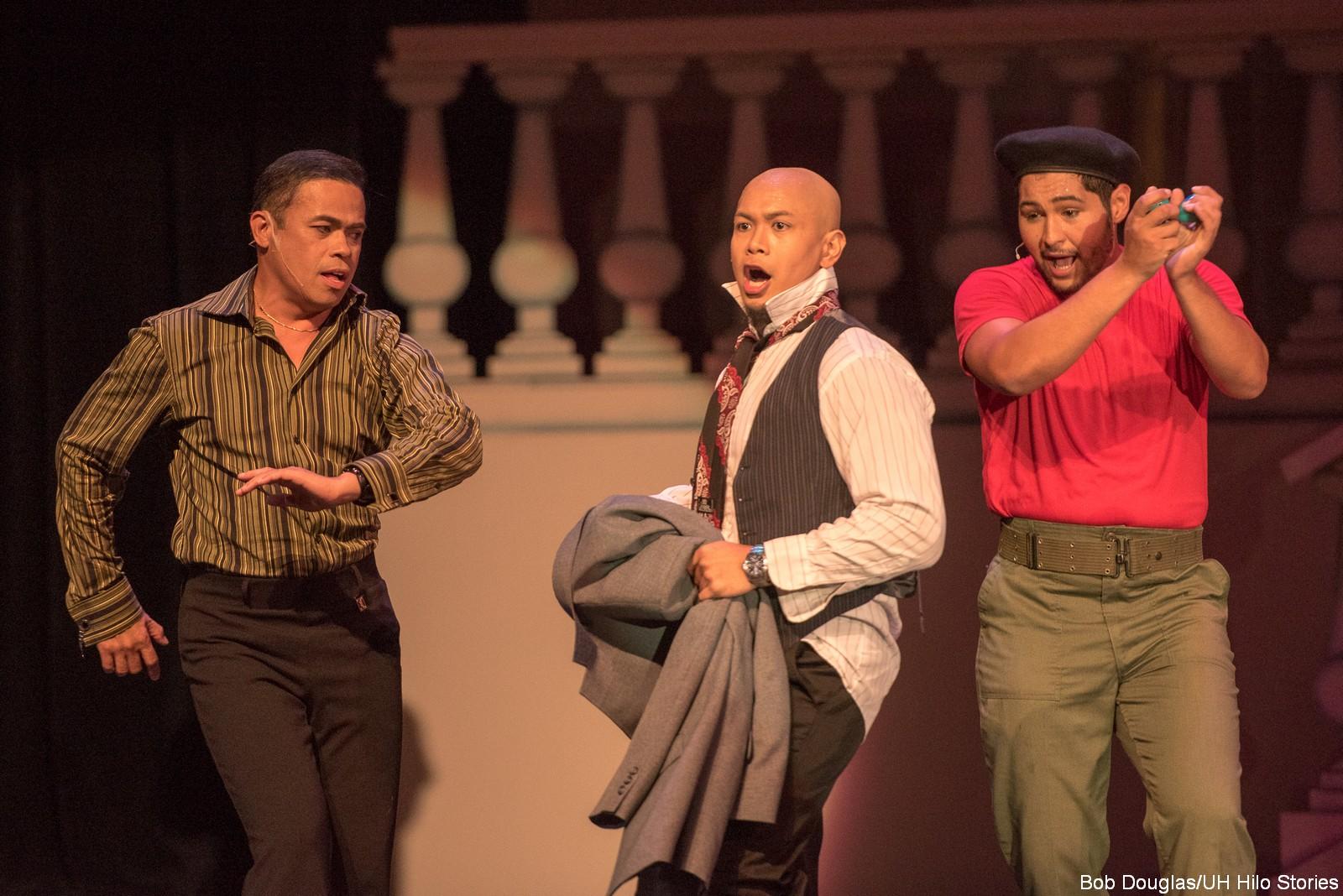 Actors singing.