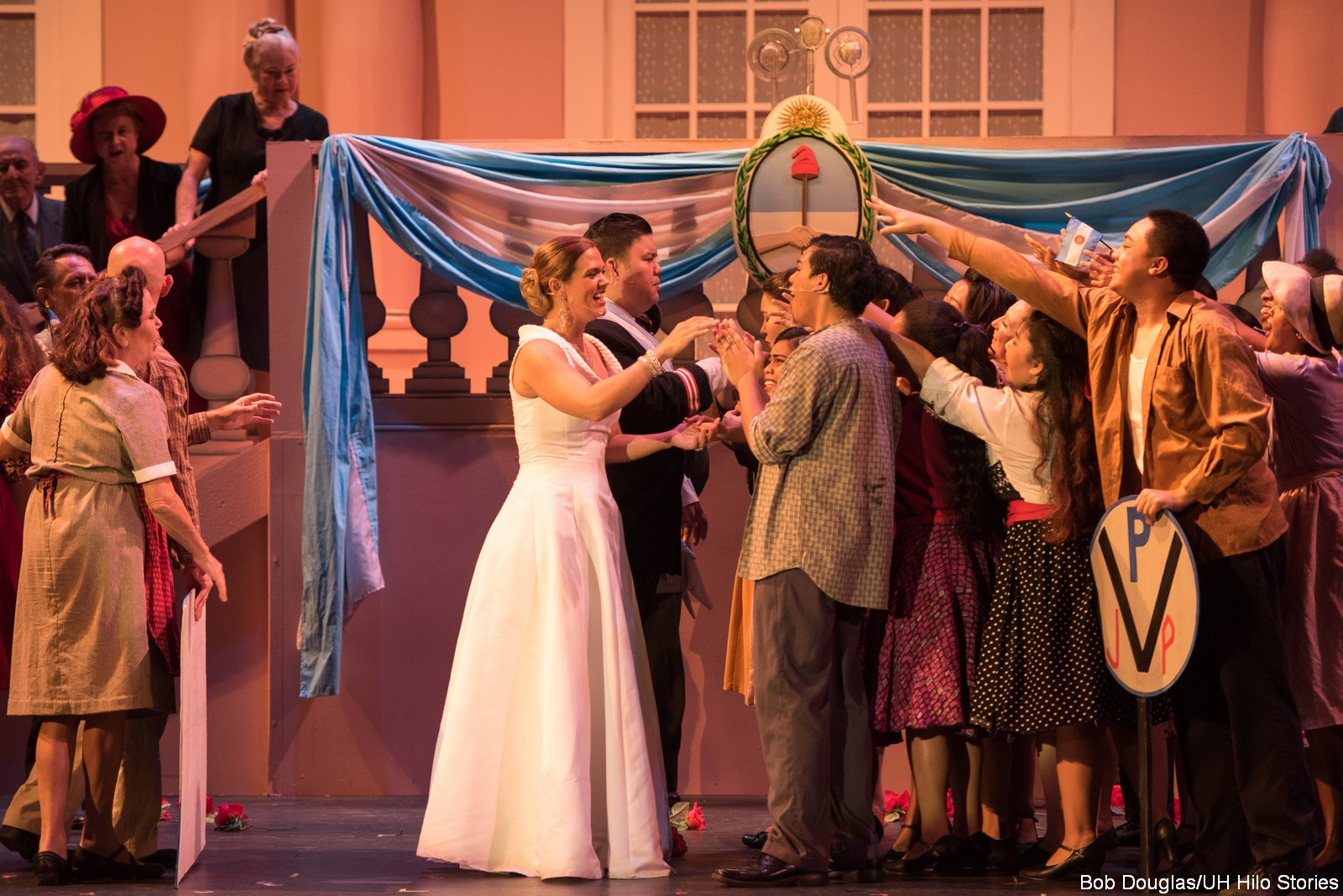 Actors dancing