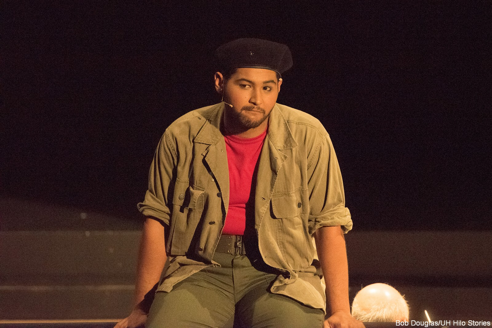 Male actor with beret.