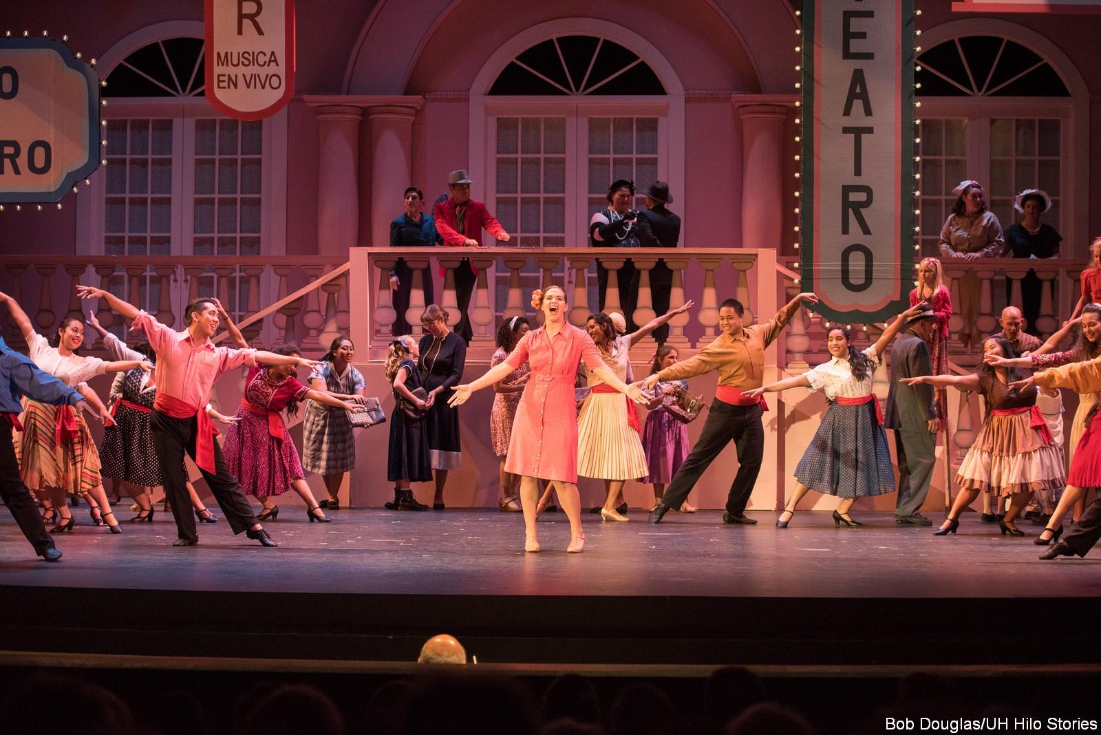 Chorus dancing.
