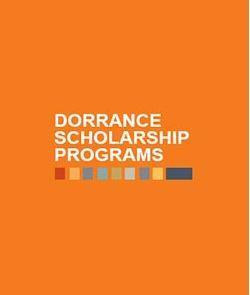 "Words ""Dorrance Scholarship Programs"" against an orange background."