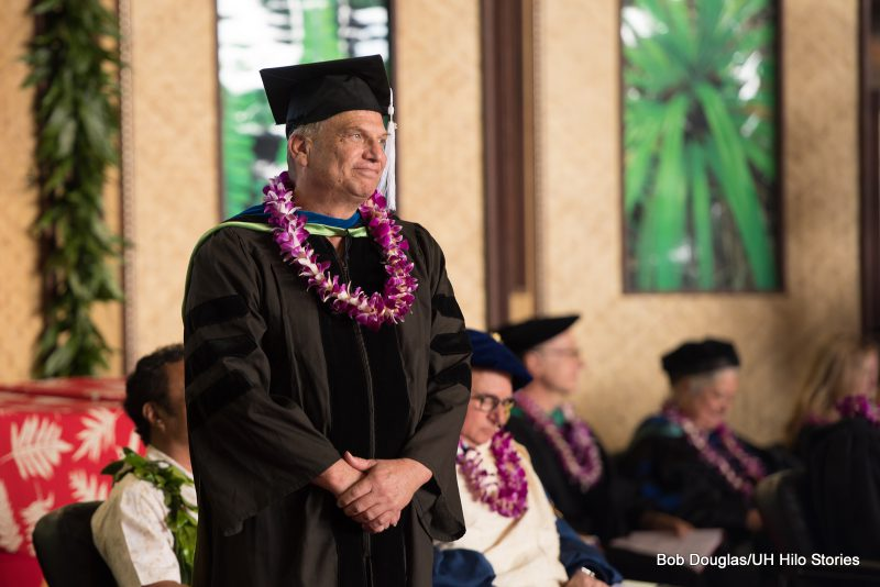 Adam Pack, professor of psychology at the University of Hawaiʻi at Hilo, was honored with the UH Board of Regents' Medal for Excellence.