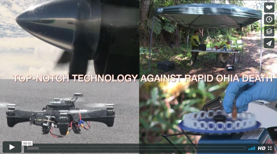 Still from Video showing UAV