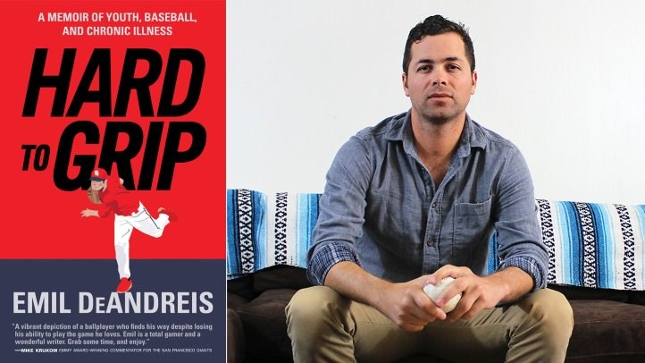 Emil DeAndreis and book cover for Hard to Grip.