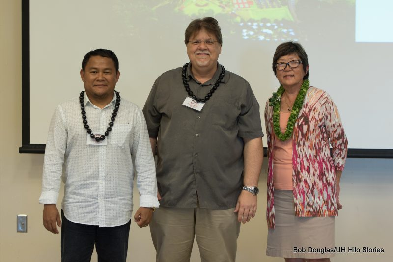 Group photo of Rodney Jubilado, Rene Martin, and Marcia Sakai.
