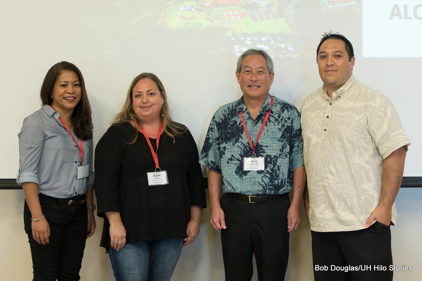 Ligaya Hill,Alana Ortiz, Jerry Watanabe, and Kalei Rapoza.