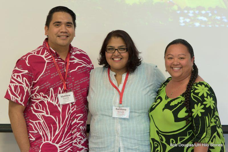Matthew Kalahiki, Karishima Kamath and Farrah Marie Gomes.