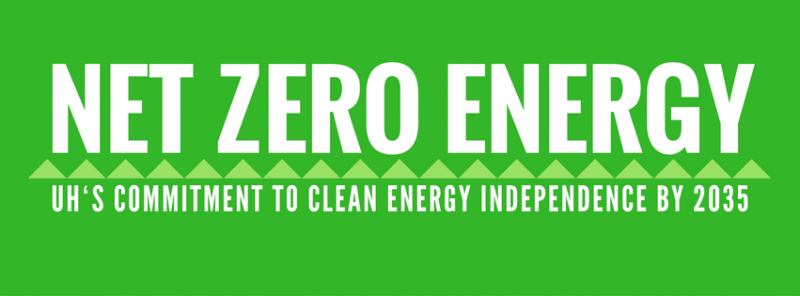 "Sign with words ""Net Zero Energy"""
