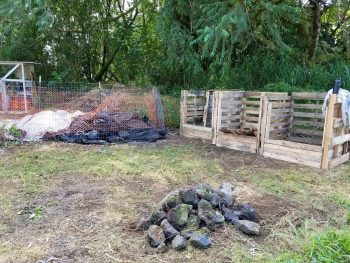 Compost site.