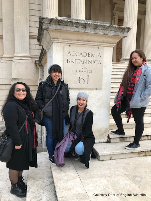 Droste Scholars on the front steps of The British School at Rome.