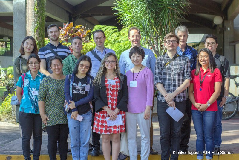 Group photo of international journalists.