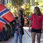 Students representing Norway.