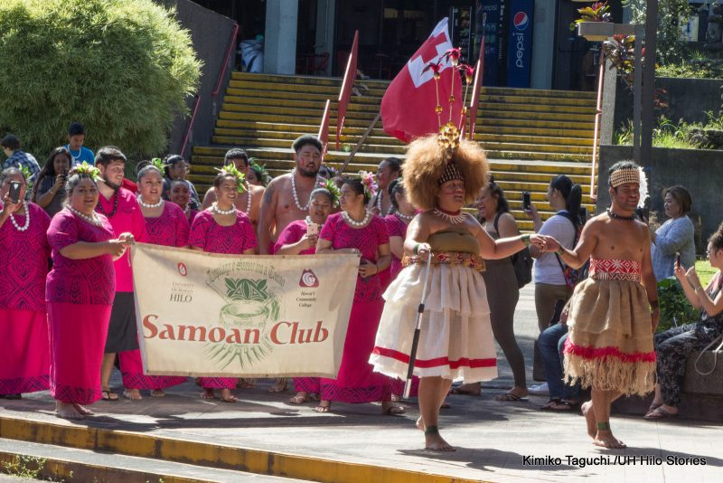 Samoan Club with sign.