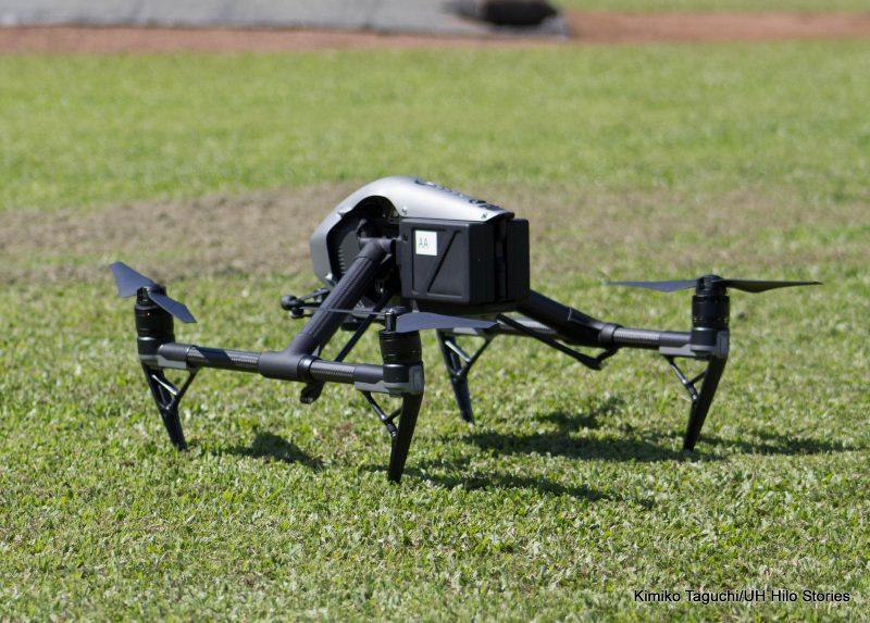UAV resting before take off.