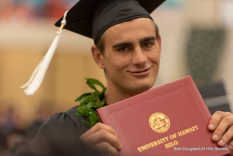 Candidate with diploma.