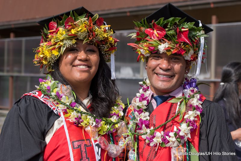Two graduates.