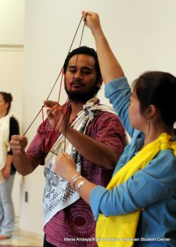 Doing hei, the ancient art of Hawaiian string figures.