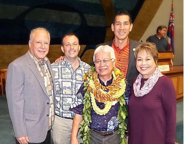 Two UH Hilo Hawaiian language leaders honored by State Legislature