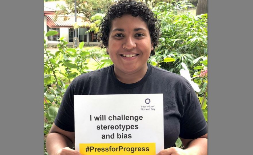 UH Hilo participates in international #PressForProgress photo challenge