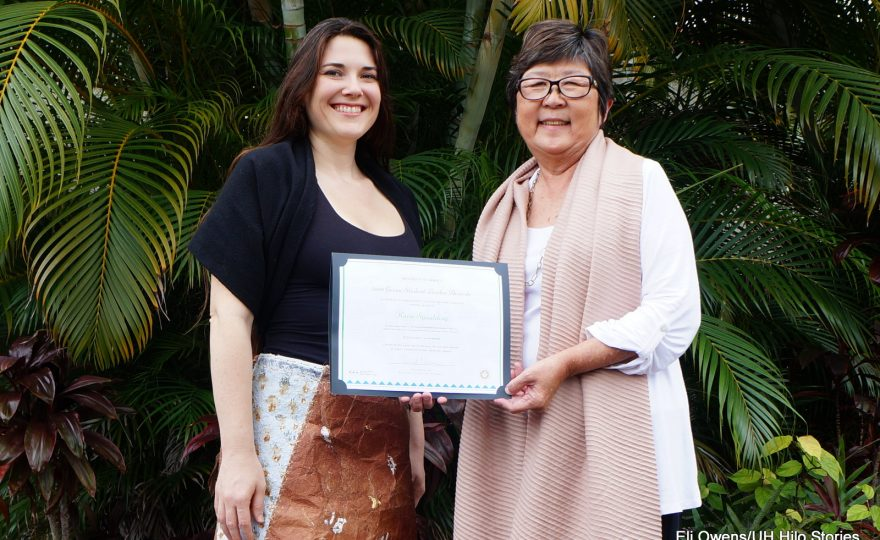 UH Hilo art student wins UH System Green Leader Award