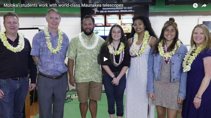 VIDEO: Three Molokaʻi High students granted observation time on Maunakea telescopes